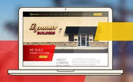 Responsive web design for the construction company Lynmar Builders