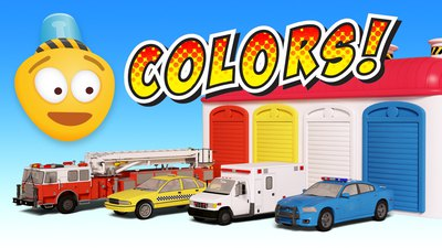 Learn Colors and Street Vehicles | Educational Cartoon Video for Children
