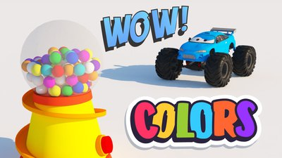 Learn Colors with Monster trucks