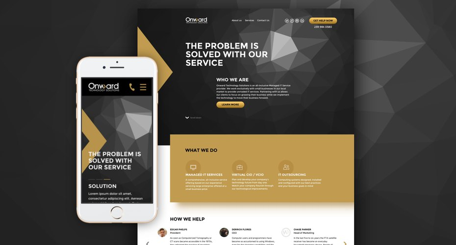 Creating a custom and responsive site for the IT Service provider Onward Technology Solutions
