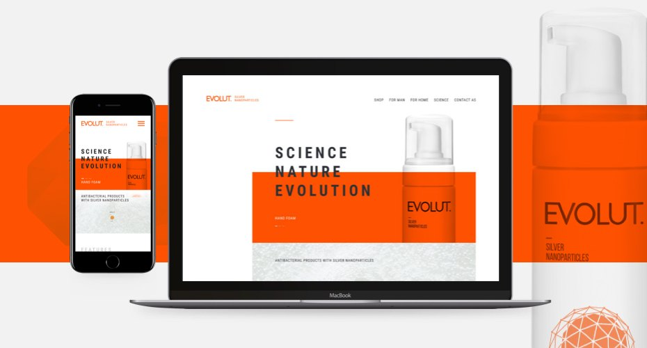 Unique, Fresh Web Development to Showcase Evolut Products