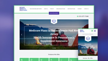 Website development for the Decker Benefits Solutions insurance company