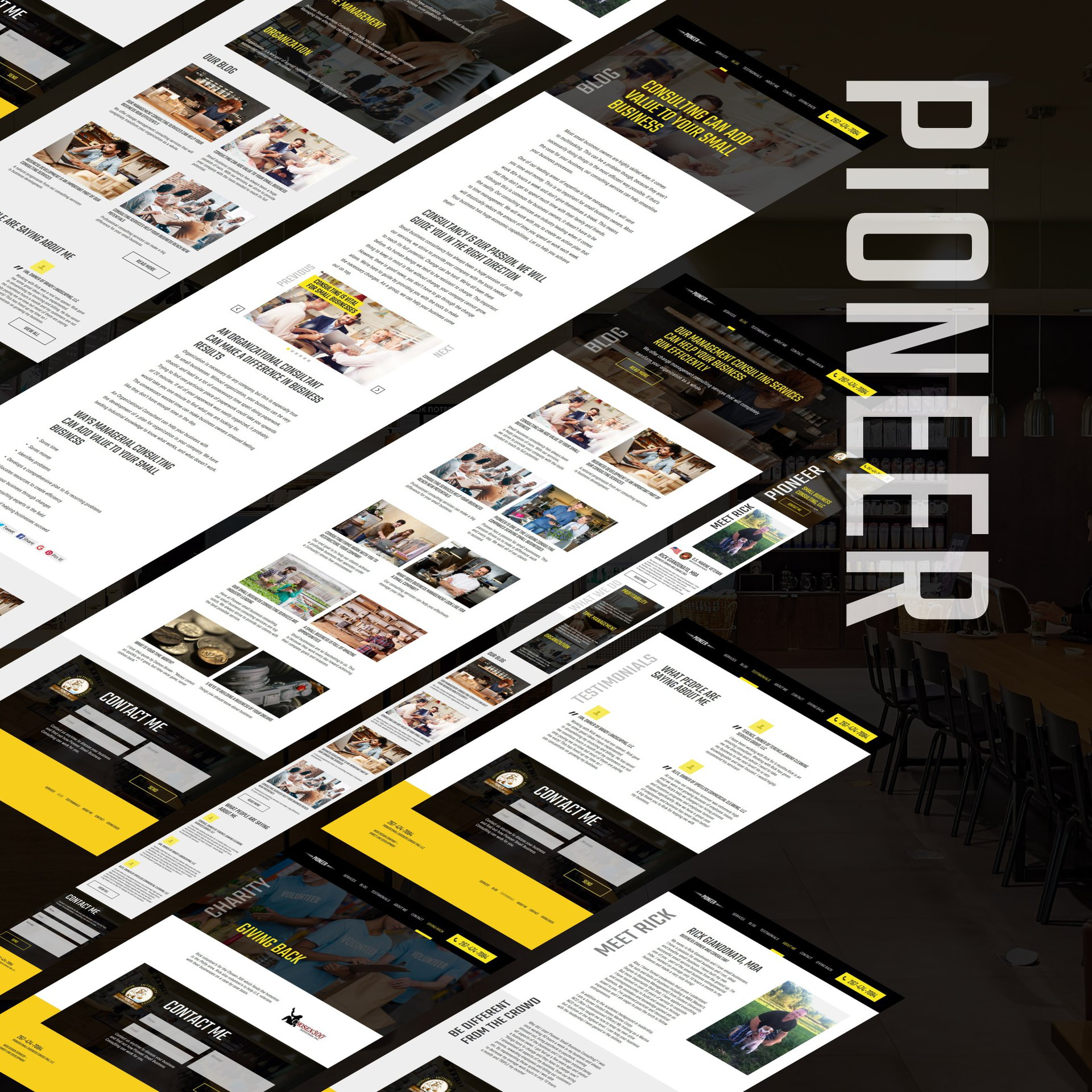 All page desing Pioneer Small Business