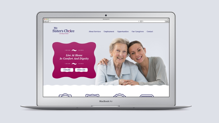 Website design of the home page