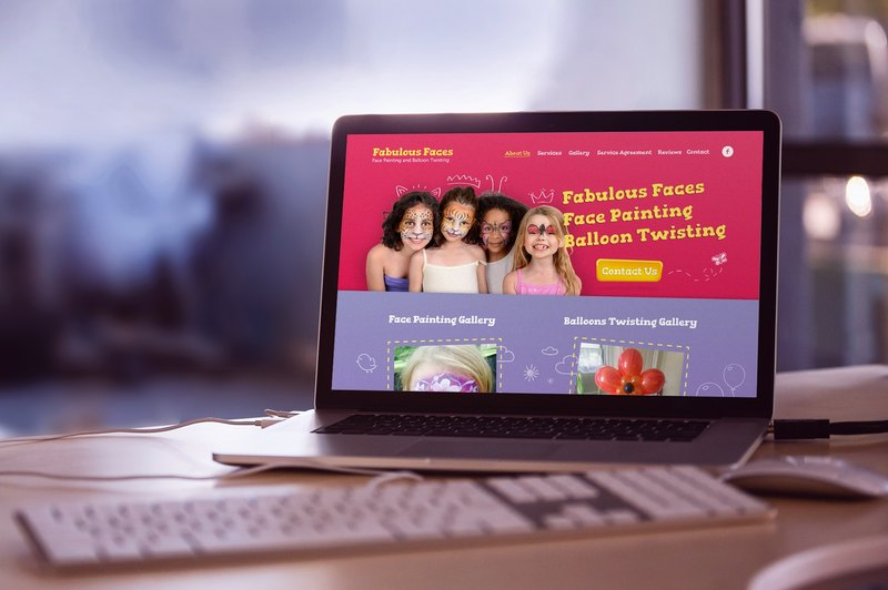 Main page design for «Fabulous Faces» from Direct Line Development