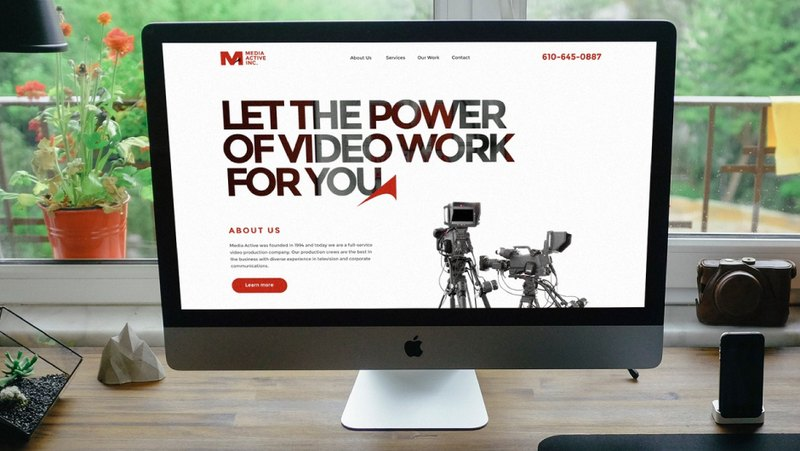 Development of the Media Active Inc website