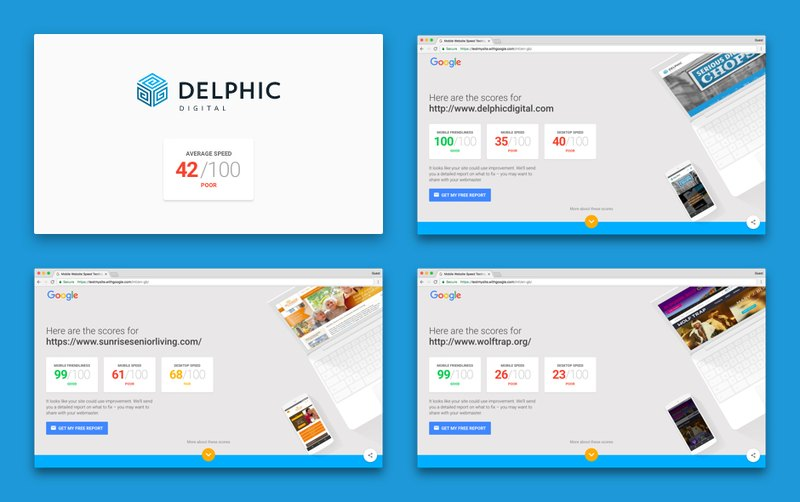 Delphic Digital websites on page speed test,  img 1