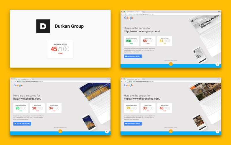 Durkan Group websites on page speed test,  img 1