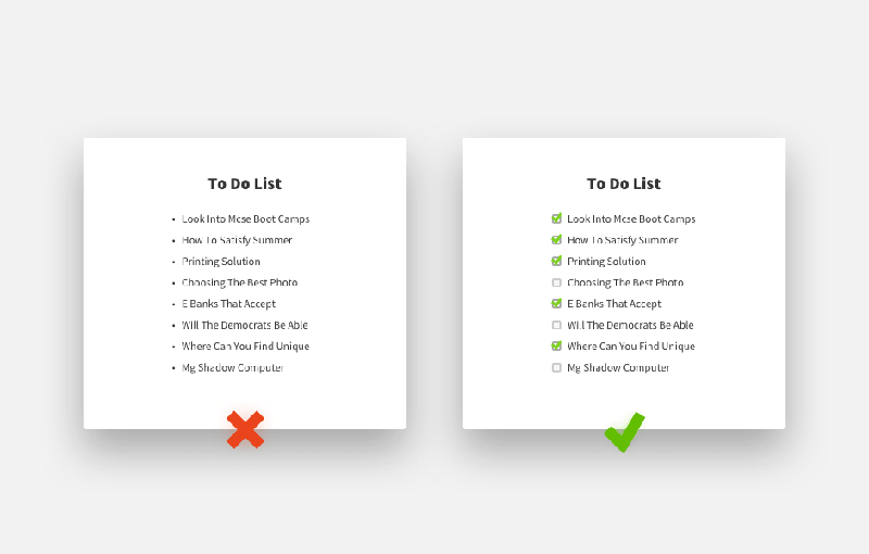 Using checkboxes in web design