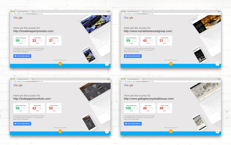 Page speed test of third websites from Studio Atlity