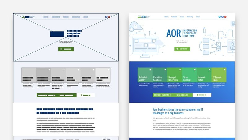Prototype for AOR website