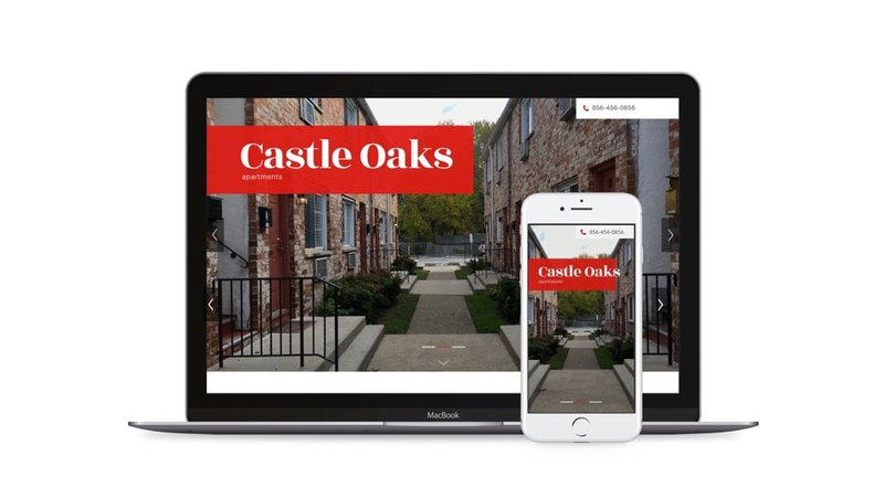 Web design of Castle Oaks adapted for other devices