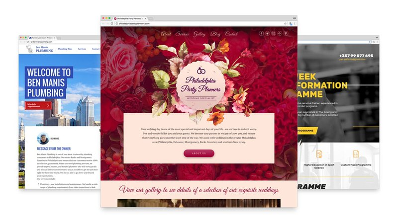 Custom web design for Ben Manis, Party Planner and Panayiotis Pattichis