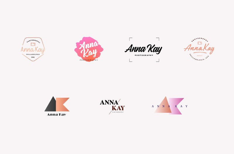 Different concepts for Anya Kay logo design