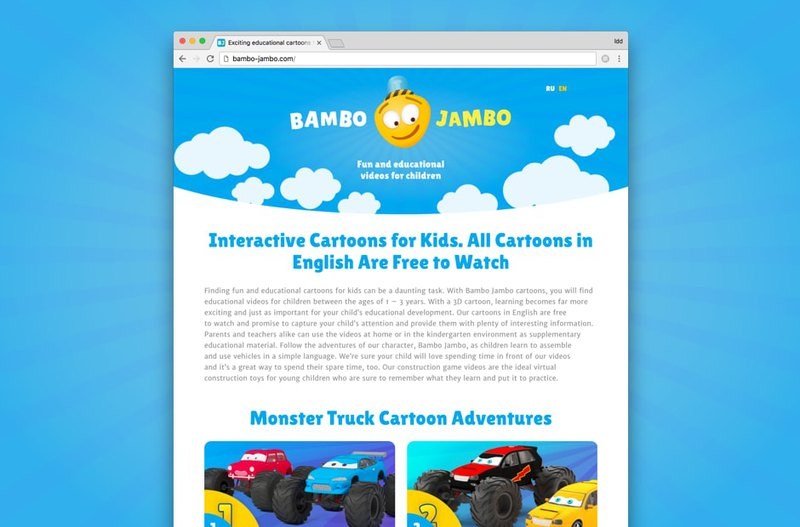 Bambo Jambo logo design on website main page