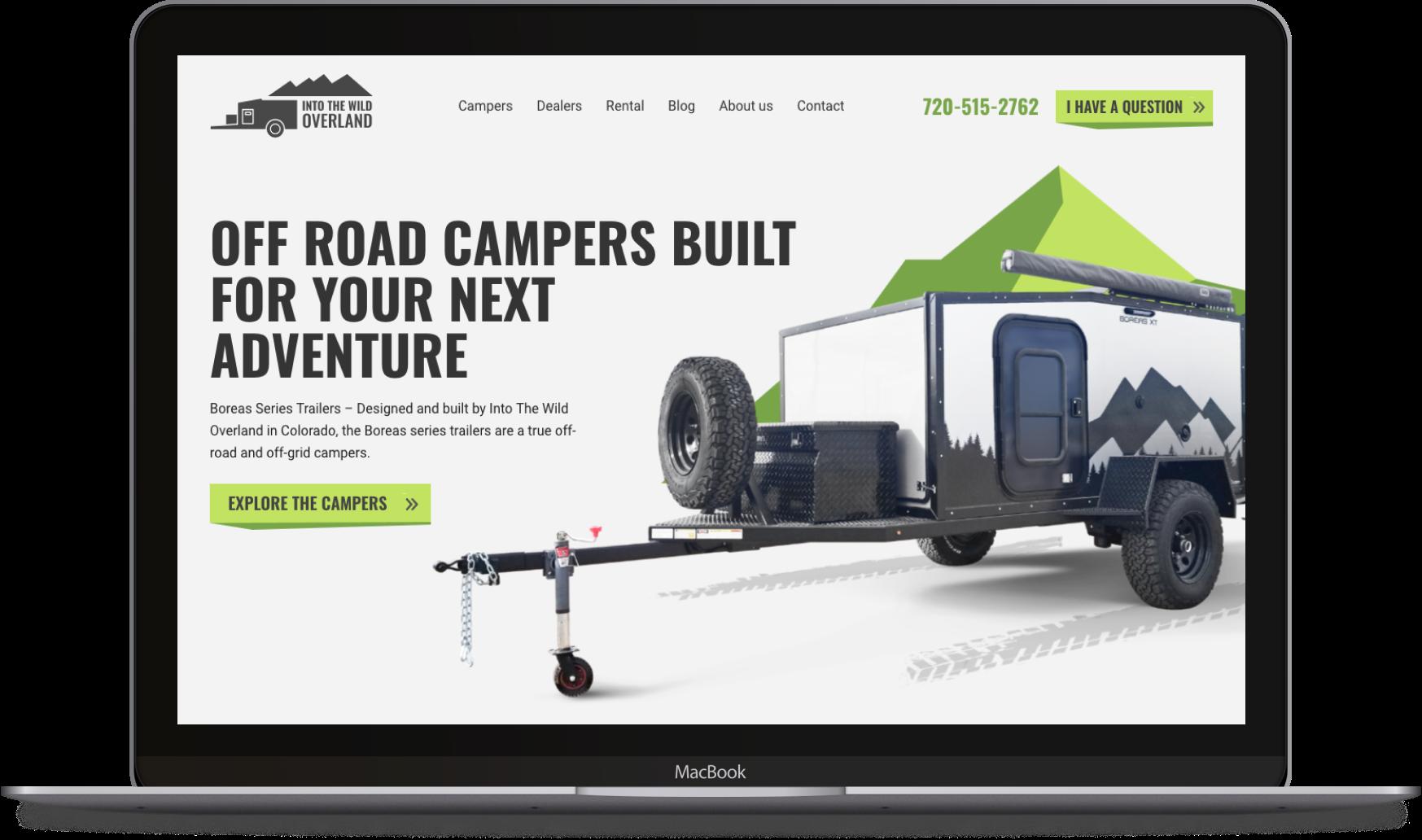 Developing A Website Design For A Colorado Trailer Manufacturer Direct Line Dev