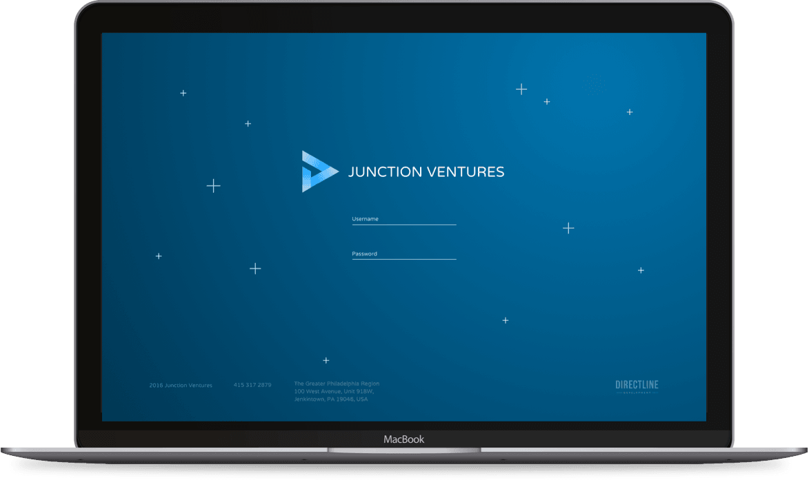 Junction Ventures on MacBook