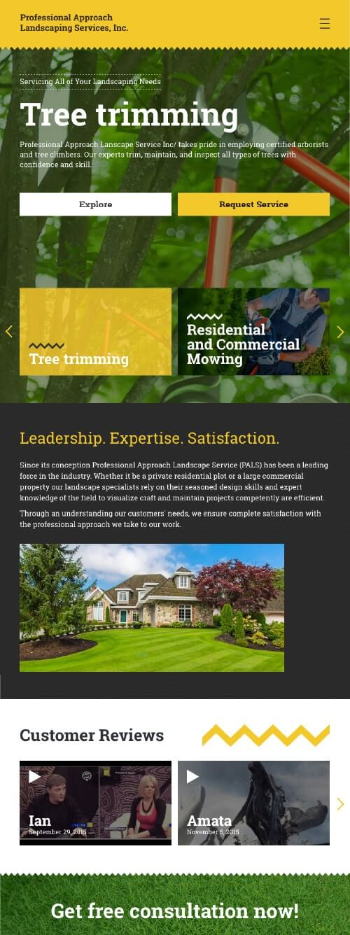 Professional Approach Landscaping Services on iPad